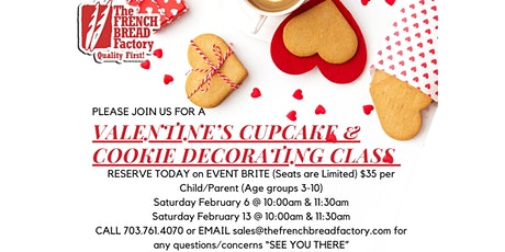 Valentine's Cookie / Cupcake Decorating Class w/ your LO's tickets