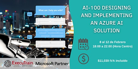 Curso Online AI-100 Designing and Implementing an Azure AI Solution entradas