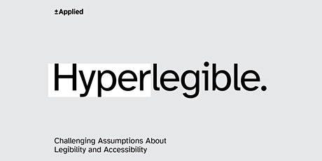 Atkinson Hyperlegible: legibility and accessibility tickets