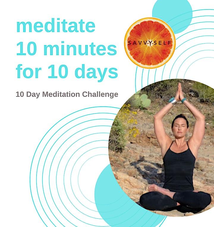 S A V V Y S E L F  10 Day Meditation Challenge image