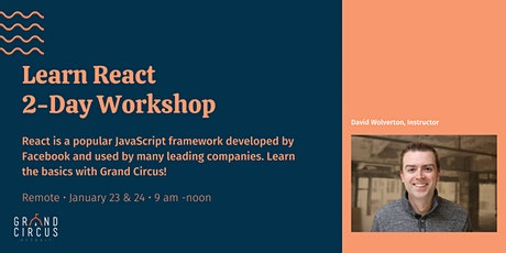 Learn React 2-Day Workshop tickets