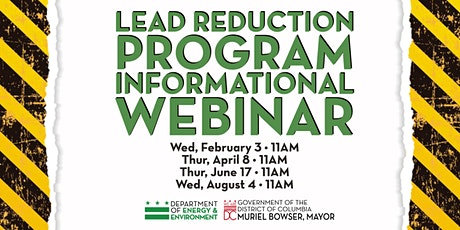 DOEE Lead Reduction Program Information Session tickets