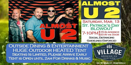 Almost U2 & St. Patrick's Day Blowout @Village Brewing Company tickets