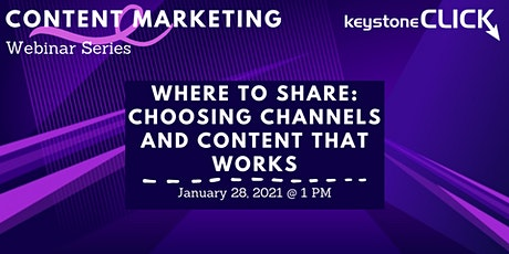 Where to Share: Choosing Channels and Content that Works tickets
