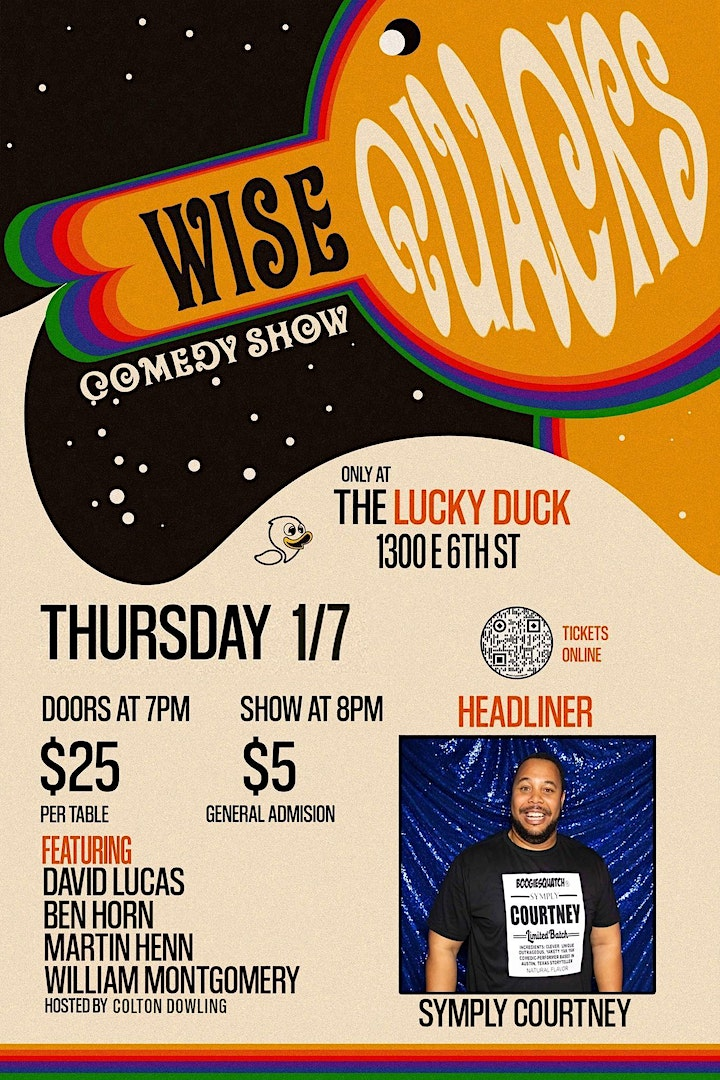 Wise Quacks Comedy Show - Sympley Courtney image