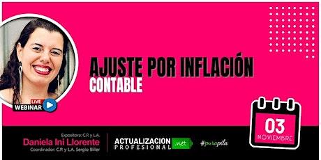 <GRABACION Ajuste por inflación contable - Cierres entradas