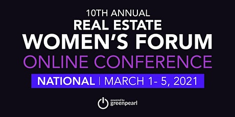 Real Estate Women's Forum: Online Conference, powered by GreenPearl tickets