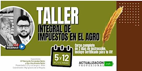 <GRABACION - Taller Integral de Impuestos en el Agro boletos