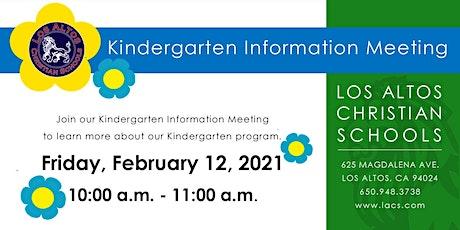 Kindergarten Information Meeting 2021-2022 tickets