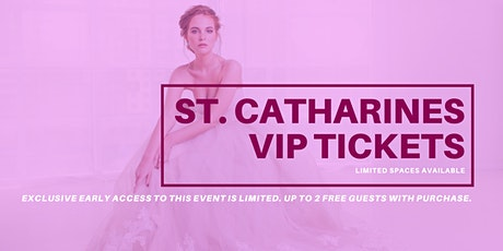 St. Catharines Pop Up Wedding Dress Sale VIP Early Access tickets