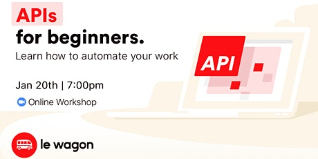 API for Beginners - Online Workshop tickets