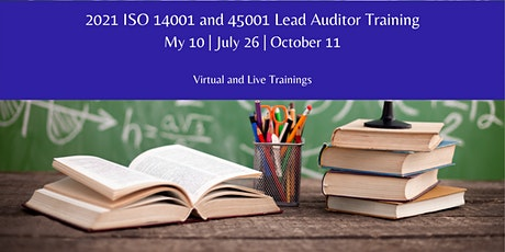 Virtual ISO 14001 and/or 45001 Lead Auditor Course tickets