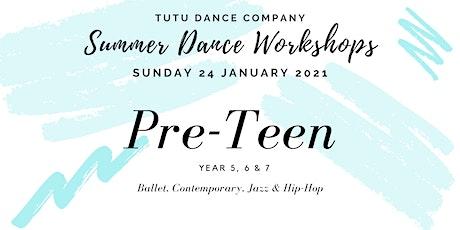 Pre-Teen Dancers workshop: Sunday tickets