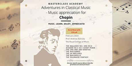Adventures in Classical Music - Music appreciation for Chopin tickets