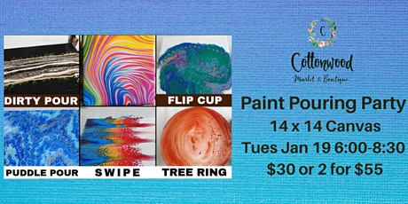Paint Pouring Paint Night tickets