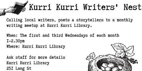 Kurri Kurri Writers' Nest 1st Wednesday tickets