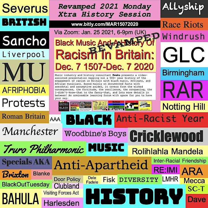 British History, Black Music, Racism & The  Music Industry 1507-2020 image