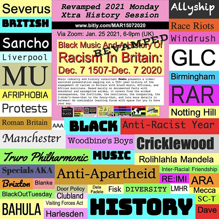 British History, Black Music, Racism & The  Music Industry: 1507-2020 image