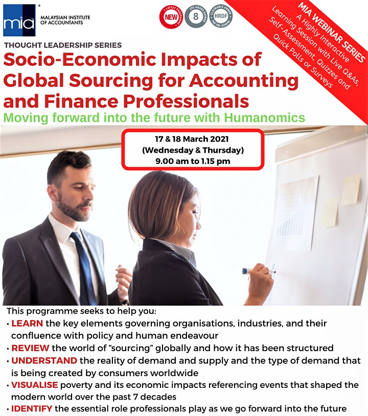 Socio-Economic Impacts of Global Sourcing for Accounting & Finance Prof image