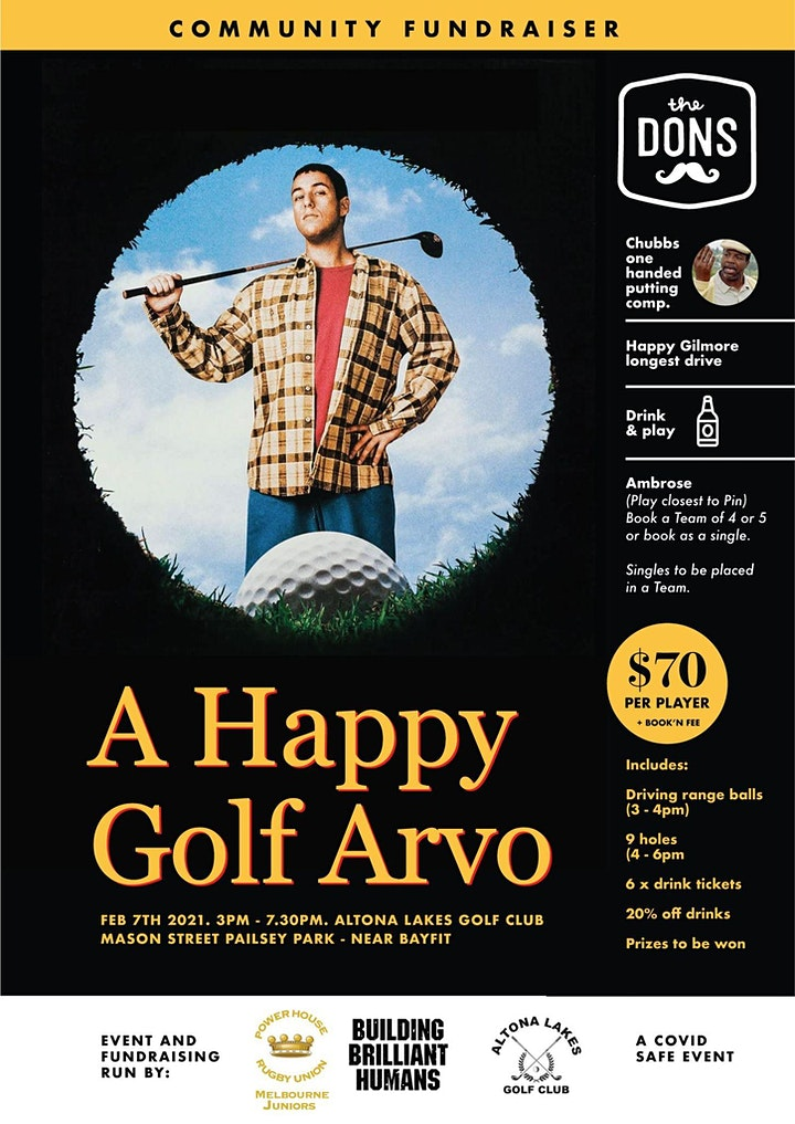 *Sold Out* Power House Junior Rugby - Happy Golf Arvo image