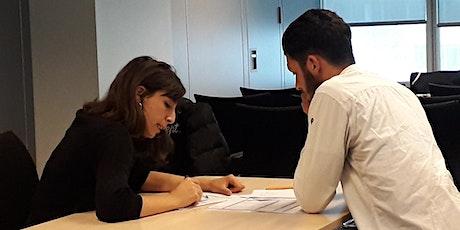 Coaching de personnes réfugiées accompagnées par le projet LEVIER billets
