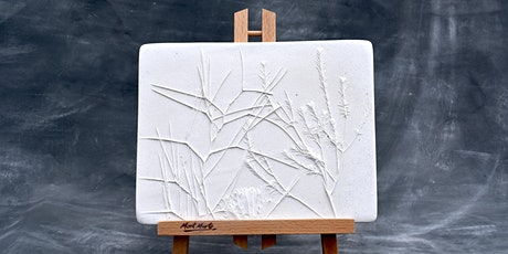 Pressed Plants Plaster Tile, Create and Sip Class tickets