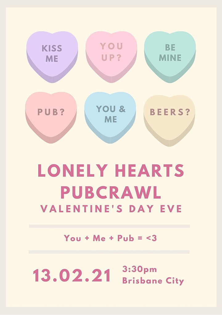 Lonely Hearts Valentine's Day Eve Pub-Crawl image