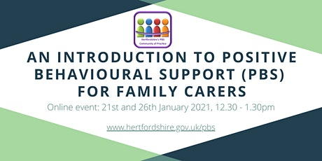 An Introduction to Positive Behavioural Support (PBS) for family carers tickets