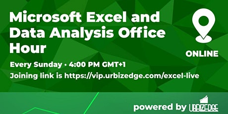 Microsoft Excel and  Data Analysis Office Hour tickets