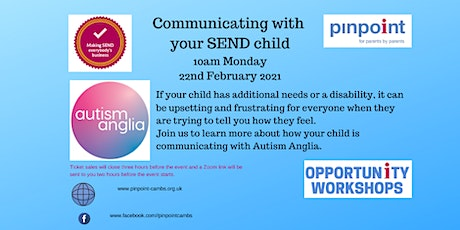 Communicating with your SEND child - Autism Anglia tickets
