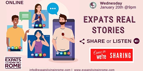 Expats Real Stories | Share or Listen online tickets