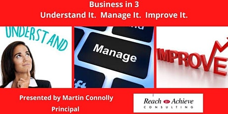 `Business in 3 - Understand It -  Manage It -  Improve It. tickets