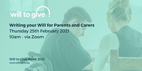 Writing your Will for Parents and Carers tickets