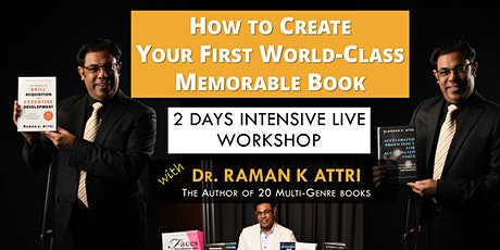 How to Create Your First World-class Memorable Book (Workshop) tickets