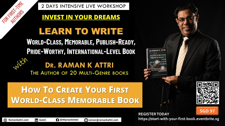How to Create Your First World-class Memorable Book (Workshop) image