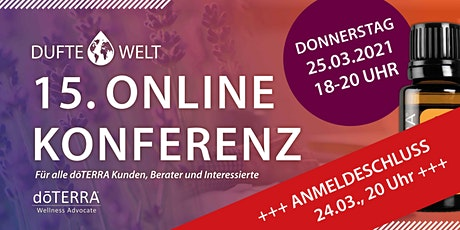 Fünfzehnte Dufte Welt Online Konferenz Tickets