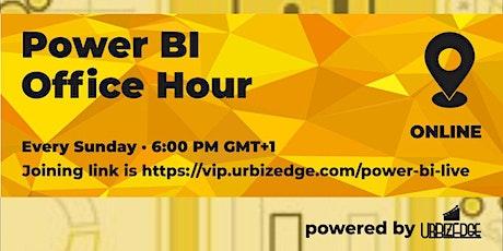 Power BI Office Hour tickets