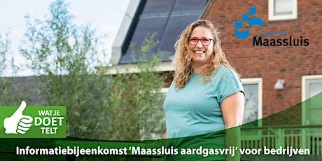 Informatiebijeenkomst 'Maassluis aardgasvrij' voor bedrijven tickets