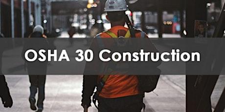 30 Hour OSHA Construction Training tickets