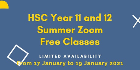 Free Year 11 Online HSC Physics tutoring tickets