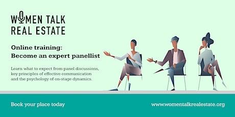 Online course: Become an expert panellist tickets