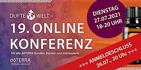 Neunzehnte Dufte Welt Online Konferenz tickets