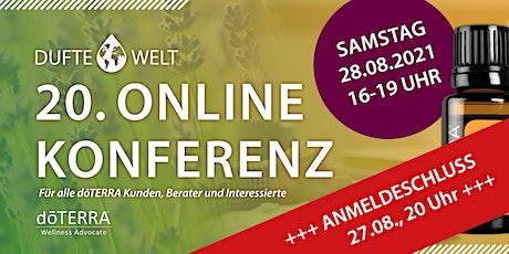 Zwanzigste Dufte Welt Online Konferenz Tickets