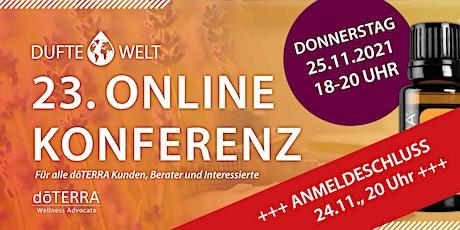 Dreiundzwanzigste Dufte Welt Online Konferenz tickets