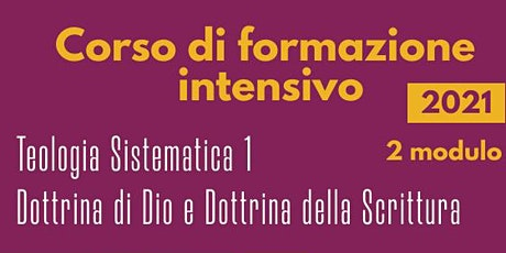 Teologia Sistematica 1 biglietti
