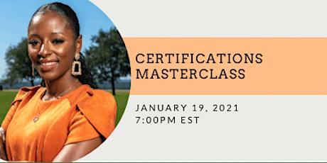 Certifications Masterclass tickets