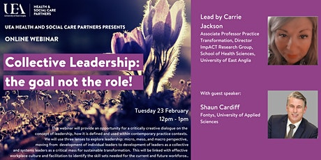 Collective Leadership: the goal not the role! tickets