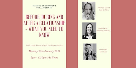 Before, during and after a relationship - what you need to know tickets