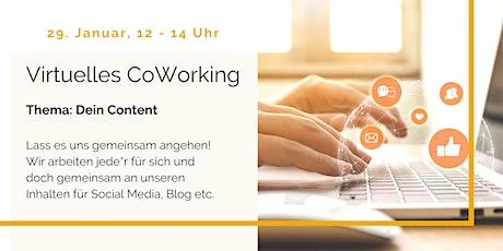Virtuelles CoWorking - Thema: Dein Content Tickets