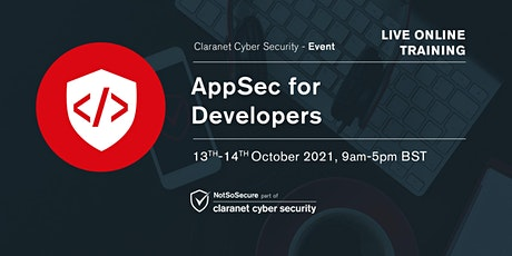 AppSec for Developers - Live Online Training tickets